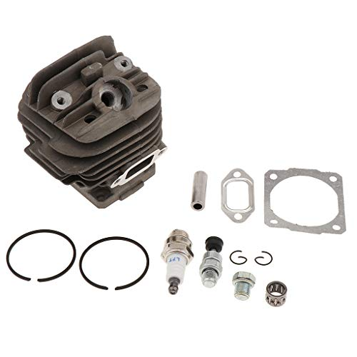 B Blesiya 44.7mm Cylinder Assembly for Stihl 026 MS260 W/Piston Ring Pin Clip Exhaust Gaskets: