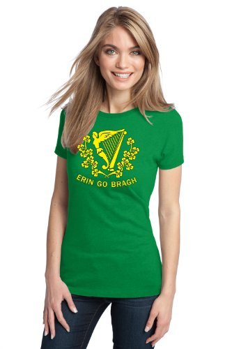 ERIN GO BRAGH Ladies' T-shirt / St. Patrick Battalion Flag, Ireland Forever