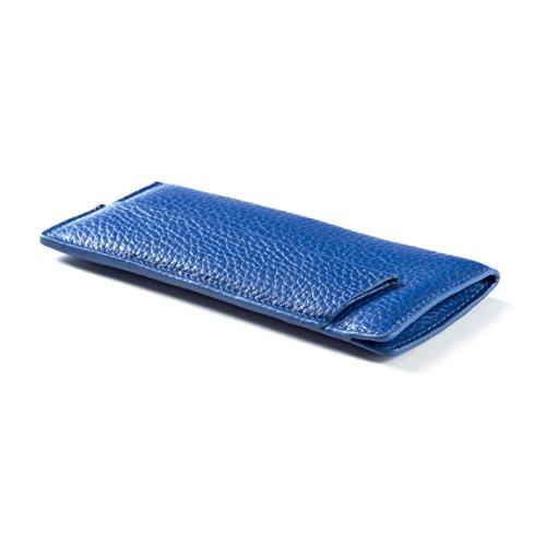 Reading Glasses & Pen Pouch - Full Grain Leather - Cobalt ()