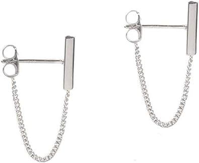 Sterling Silver Bar Dangle Earrings