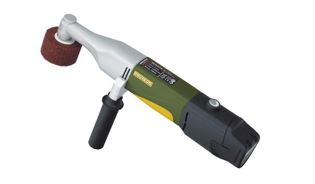 Proxxon 29827 Akku-Walzenschleifer (Schleifgerät) -1.100-2.600 U/min, Ø 50 mm-Veredelung von Oberflächen