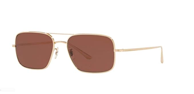 22582f38c34 Image Unavailable. Image not available for. Color  New Oliver Peoples  0OV1246ST VICTORY LA 5292C5 WHITE GOLD Sunglasses