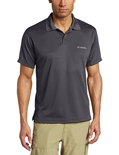 Columbia Men's New Utilizer Polo, Grill, Medium (Columbia Sportswear New)