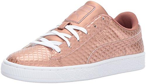 Pictures of PUMA Basket Met Emboss Kids Sneaker Copper 1