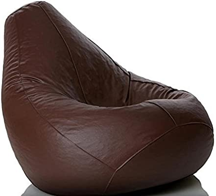 Groovy Cozy Signature Bean Bag Cover Without Bean Brown Leatherette Bean Bag Covers Comfortable Large Sofa Chair Drawing Room Decor Theyellowbook Wood Chair Design Ideas Theyellowbookinfo