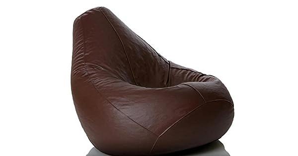 Amazon.com: Cozy Signature Puf de piel marrón cómodo gran ...