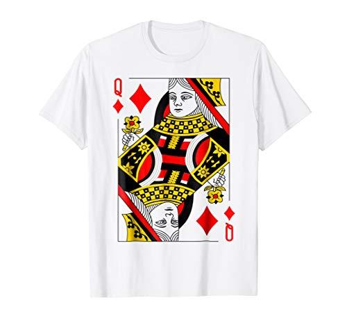 Poker Cards Halloween Group Costume Shirt Queen of -
