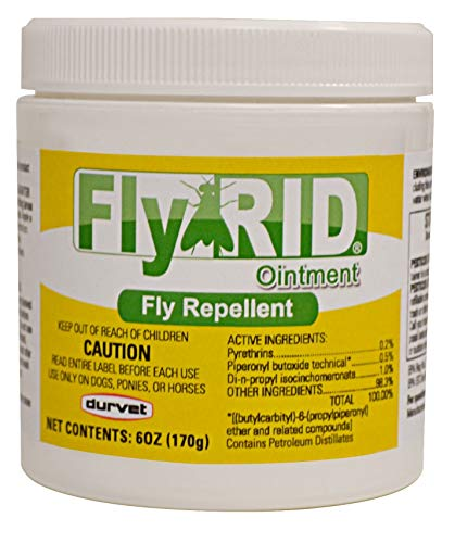 Durvet Fly Repellent Ointment Fly Rid Clear 6oz for Dogs and Horses (1 Pack)