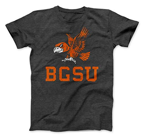 Nudge Printing NCAA Collegiate Premium Grunge Vintage Bowling Green State University T-Shirt from (Bowling Green State University, XXL)