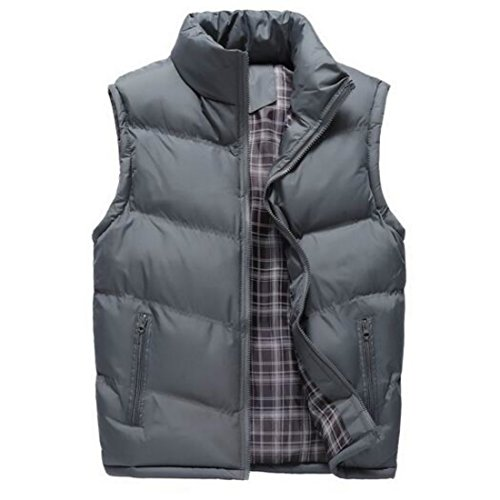 Down Waistcoat Vest (Colygamala Men's Fall and Winter Quilted Sports Down Vest Lightweight Packable Down Waistcoat 2017072501-DG-XL-T3XL)