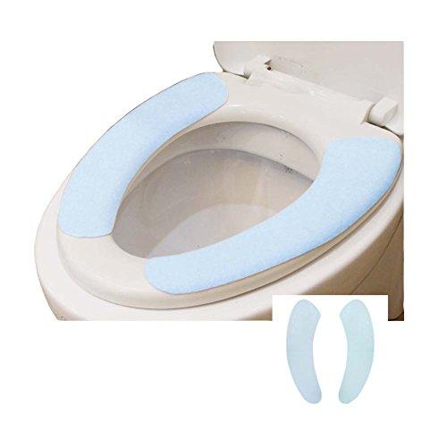 Juego de 8, cubierta de asiento de inodoro lavable individualmente envuelto suave cálido