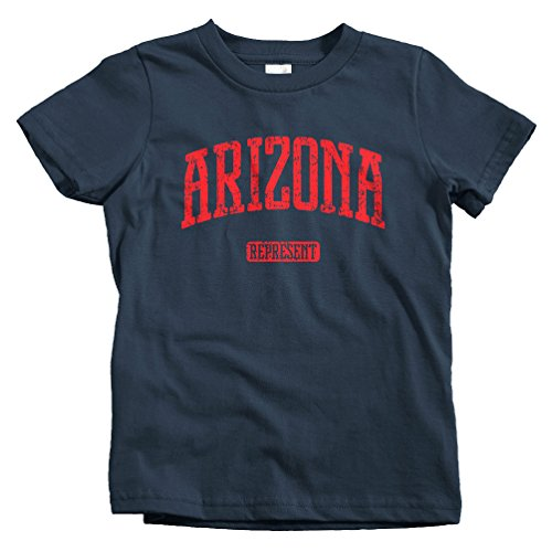 Smash Vintage Kids Arizona Represent T-Shirt - Navy, Baby - Kids Yuma