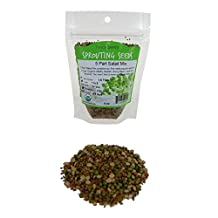 5 Part Salad Sprout Seed Mix -1/4 Lbs (4 Oz) - Organic Sprouting Seeds: Radish, Broccoli, Alfalfa, Green Lentil & Mung Bean - For Sprouts