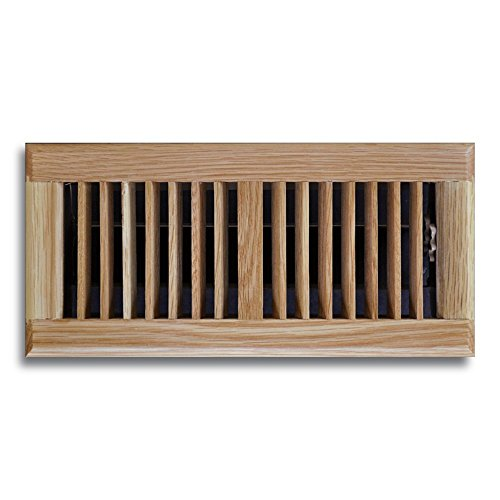 Truaire C168-OLF 06X12(Duct Opening Measurements) Solid Oak Floor Grille 6-Inch by 12-Inch Solid Oak Floor Diffuser, Light Oak Finish ()