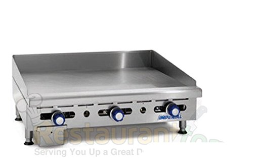 Imperial Commercial Griddle Manually Controlled 3 Burners 36'' Wide Plate Propane Model Imga-3628-1 by Imperial
