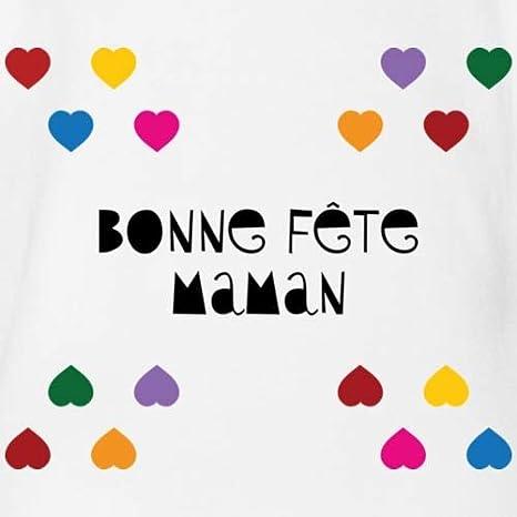 Spreadshirt Bonne F/ête Maman Body B/éb/é Bio Manches Courtes