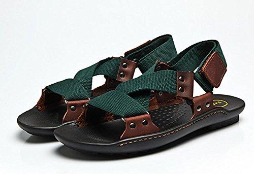 2017 del verano nuevos hombres casuales sandalias de cuero sandalias zapatillas transpirables 4