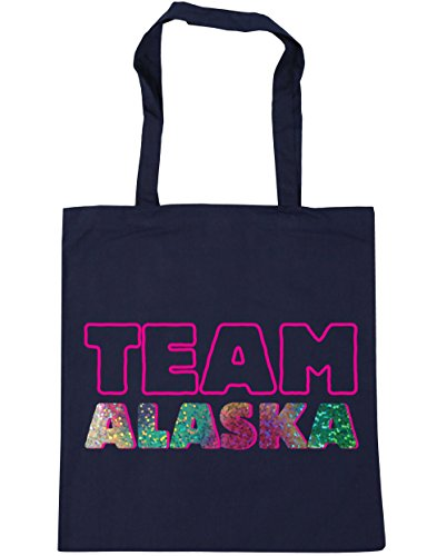HippoWarehouse French Navy Beach x38cm litres Team Shopping Bag 42cm Tote 10 alaska Gym 4CHw4Bq