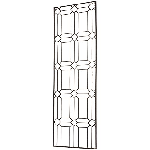 H Potter Diamond Garden Trellis for Climbing Plants use as Metal Outdoor Wall Decor or Flowers Roses Vine Ivy Clematis (Large) ()