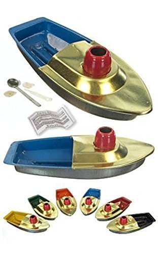 Fun Steam Powered Tin Toy Boat Pop Putt Candle Powered