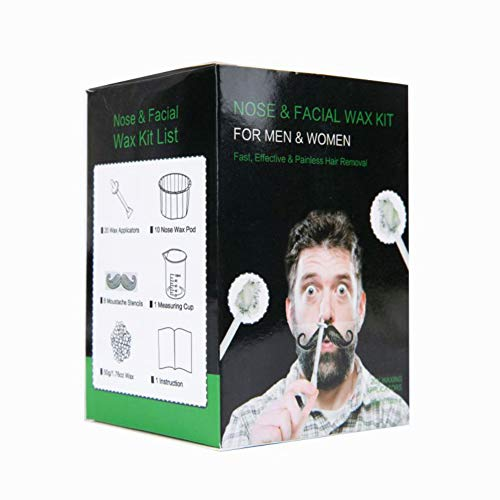 Ofanyia Nose Waxing Kit for Men & Women, Painless Nose Hair Removal Wax Set with Safe Tip Applicator