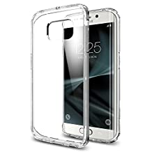 Spigen Ultra Hybrid Galaxy S7 Edge Case with Air Cushion Technology and Hybrid Drop Protection for Samsung Galaxy S7 Edge 2016 - Crystal Clear