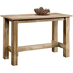 "Sauder 416698 Boone Mountain Counter Height Dining Table, L: 55.12"" x W: 25.59"" x H: 35.39"", Craftsman Oak finish"