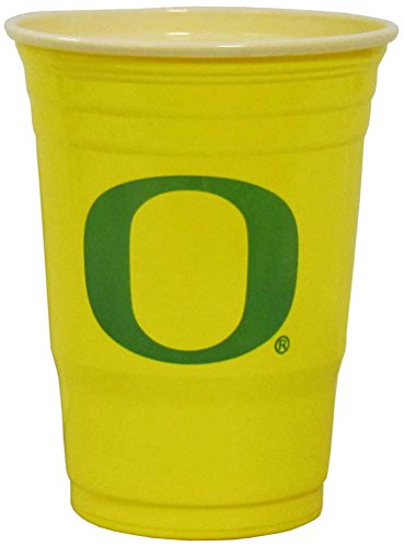 Oregon Ducks Plastic Game Day Cups 2 sleeves of 18 (36 Cups) C2GC50