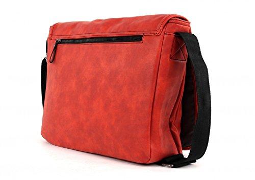 strellson Oakwood Messenger LH Grey Light Red (Rojo)