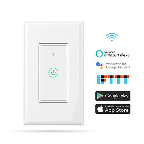 Function Wall Control - meross Smart Wi-Fi Wall Light Switch, Amazon Alexa and Google Assistant Supported, Fit for US/CA Wall Switches, Remote Control with Timing Function, No Hub Needed, White (MSS510 1 Pack)