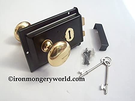 Exceptionnel Ironmongery World Traditional Old Victorian Style Rim Door Lock Knob Handle  S.