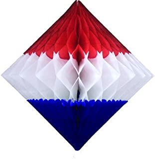 product image for 3-Pack 12 Inch Patriotic Honeycomb Diamond Decorations (Red/White/Blue)