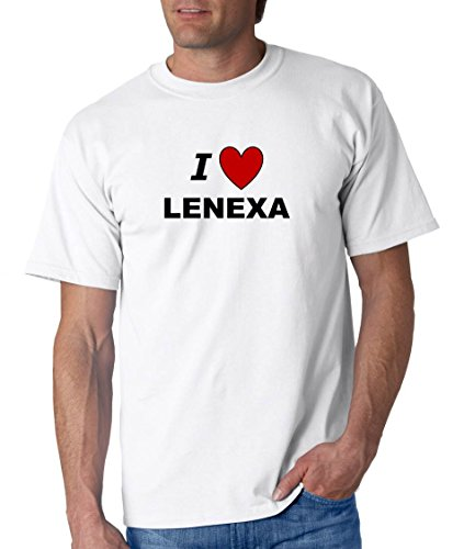 I LOVE LENEXA - City-series - White T-shirt - size X-Small