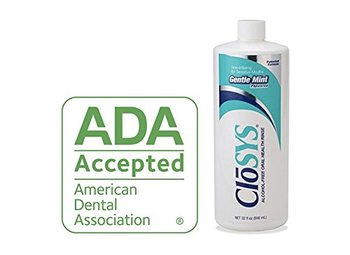 CloSYS Pre-Flavored Mouthwash, Alcohol Free, Gentle Mint, 32 Ounce