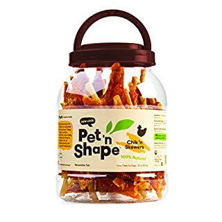 Pet 'n Shape Chik 'n Skewers - Chicken Wrapped Rawhide - All Natural Dog Treats, Chicken, 2 Lb