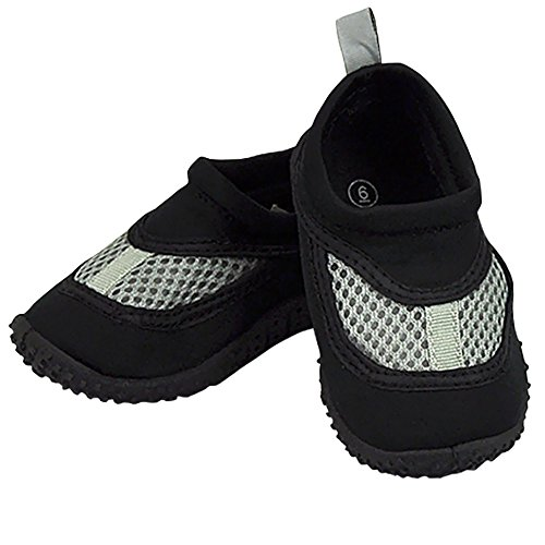 Infant Toddler Unisex Water Sand and Swim Shoes by Iplay - Black - 5 Infant from i play.