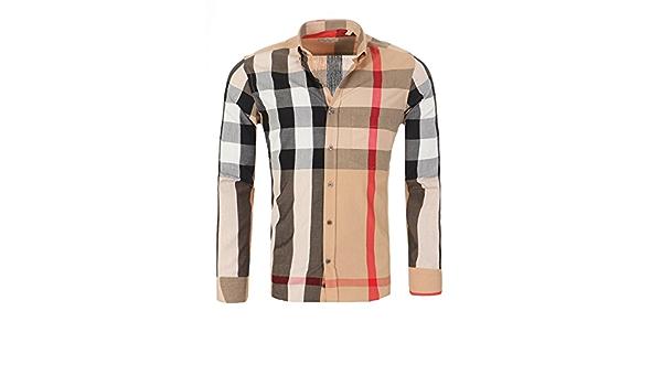 BURBERRY BRIT Camisa para Hombre de Corte Ajustado, Tamaño:XL ...