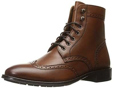 Florsheim Men's Capital Wingtip Lace up Boot, Cognac, 7 D US
