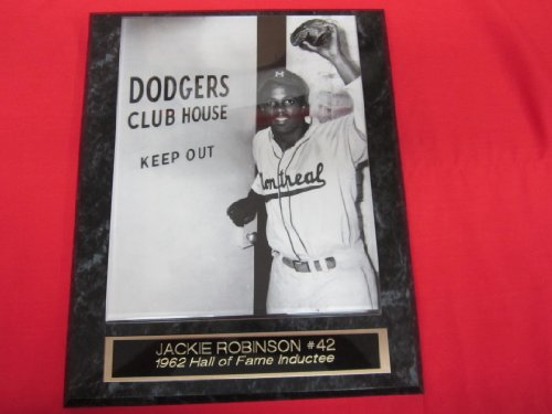 (Jackie Robinson Brooklyn Dodgers Collector Plaque w/8x10 Photo DODGERS CLUBHOUSE)