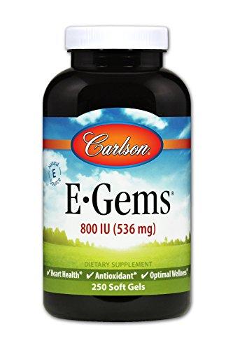 Carlson E-Gems 800 IU, Vitamin E, Heart Health, 250 Soft Gels by Carlson (Image #4)