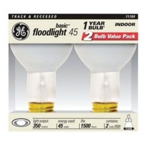 Ge Reflector Director Flood Light Bulb 45 W 350 Lumens Med Base 3-15/16 In. Boxed 2 Pack