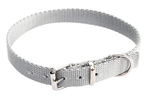 Dingo Material Collar for Dog with Metal Closing, Handmade 30 cm Silver Grey 14560