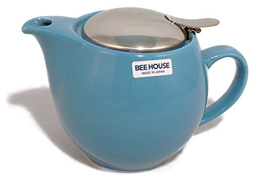 Bee House Ceramic Round Teapot (SkyBlue)