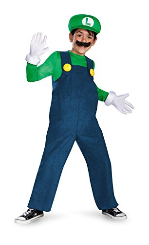 Disguise Super Mario Boys Deluxe Costume (Luigi Deluxe Childrens Costumes)
