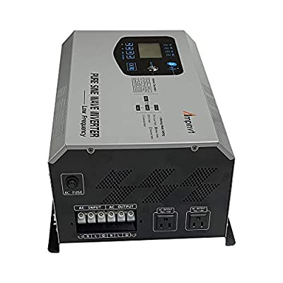 AMPINVT 3000W Peak 9000W Pure Sine Wave Power Inverter DC 12V to AC 110V Ouput Converter with Battery AC Charger 60A max Adjustable,Off Grid Low Frequency Solar Inverter for Camping RV: Garden & Outdoor