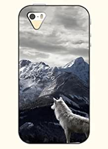 OOFIT Phone Case Desin with Snow Wolf and Mountains for Apple iPhone 5 5s 5g