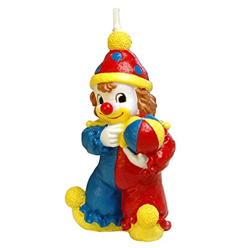 ILIKEPAR Birthday Candle Cake Topper Clown Candle for Party Supplies and Wedding Favor