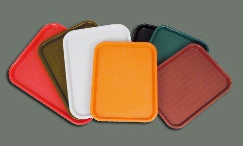 Winco Fast Food Tray, 10 by 14-Inch, Orange - Orange Fast Food Tray