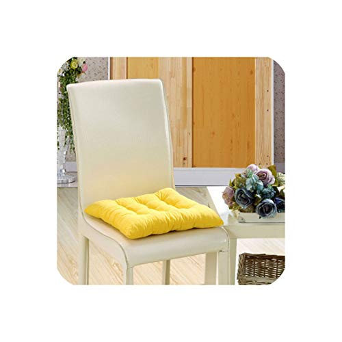Soft and Comfortable Chair Cushion Solid Color seat Cushion Square Floor Tatami Cushion Home Office Universal Comfort f,ZD-3,50x50cm 1Piece ()
