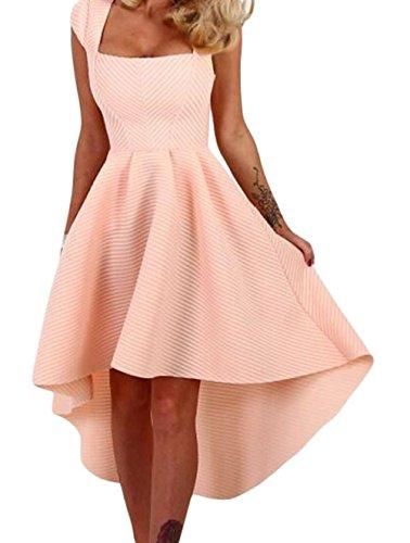 yeeatz-women-vogue-pink-stripe-cap-sleeve-dip-hem-midi-swing-dress
